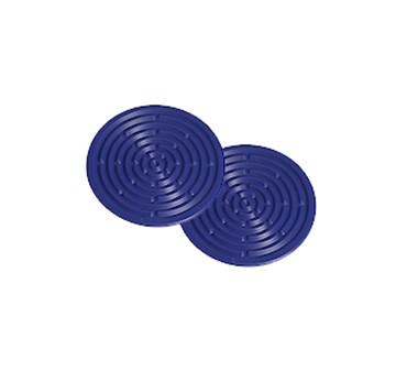 Imagen de Set 2 mini salvamanteles silicona azul