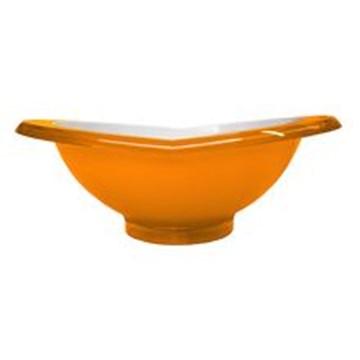 Imagen de Ensaladera de la línea GLAMOUR color naranja de 2