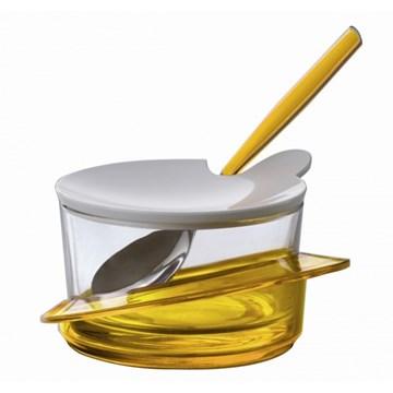 Imagen de Quesera c/cuchara amarilla GLAMOUR