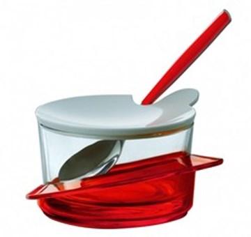 Imagen de Quesera roja c/cuchara GLAMOUR