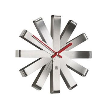 Imagen de Reloj de pared acero inoxidable Ribbon