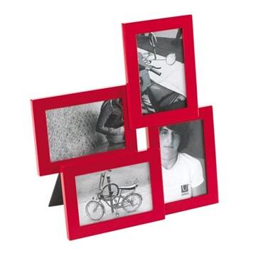 Imagen de Portarretratos rojo 10x15cm x4 LIRA