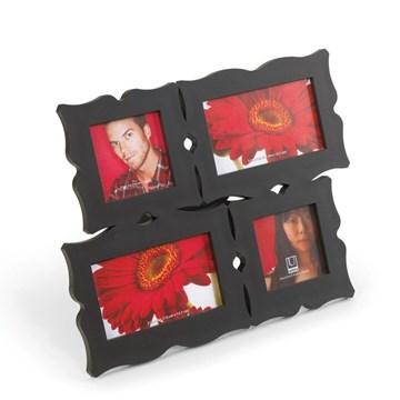 Imagen de Portarretratos negro x4 DECORA