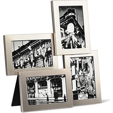 Imagen de Portarretratos nickel 10x15cm x4 LIRA