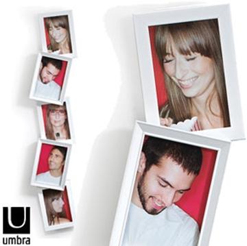 Imagen de Portarretratos modelo TOWER para 5 fotos, de color blanco