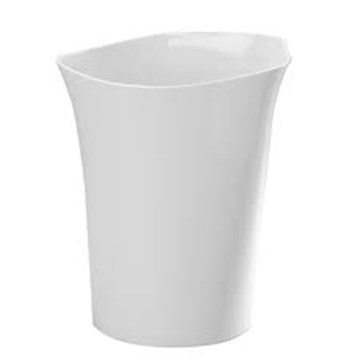 Imagen de Papelera de la línea ORVINO de color blanco