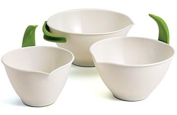 Imagen de Set 3 bowls blancos SLEEKSTOR POP+POUR