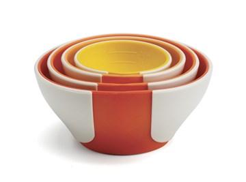 Imagen de Set 4 bowls medidores naranja SLEEKSTOR PINCH+POUR