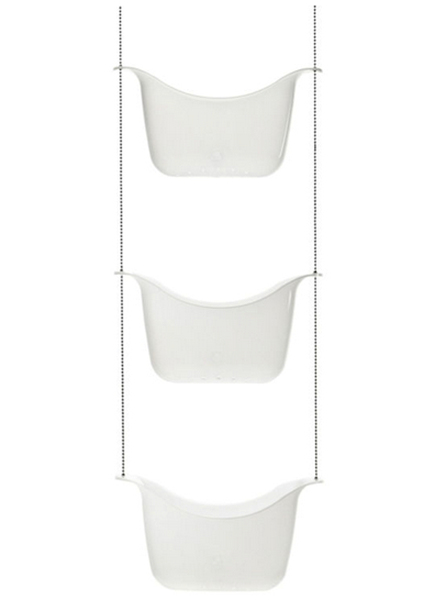 Picture of Organizador ducha blanco x3 BASK