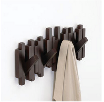 Imagen de Perchero de pared espresso x5 STICKS