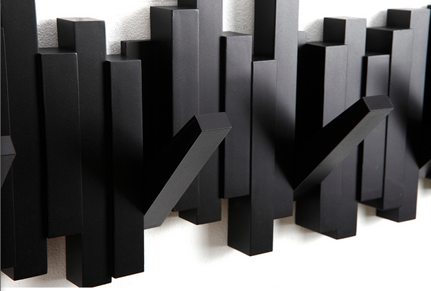 picture of perchero de pared negro x sticks