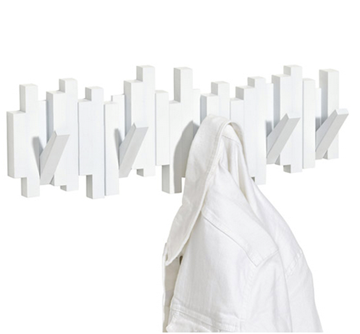 Imagen de Perchero de pared blanco x5 STICKS