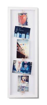 Imagen de Portarretratos blanco x5 CLOTHESLINE FLIP