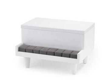 Imagen de Caja bijou blanco PIANO
