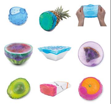 Imagen de Cubiertas para guardar alimentos COVERBLUBBER (x4)