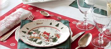 Imagen de Rollo de 12 individuales 48 x 32 lino Navidad