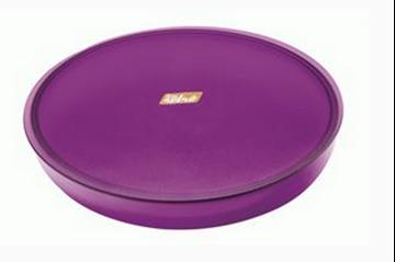 Imagen de Fuente circular con tapa retro en color morado transparente