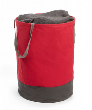 Imagen de Bolsa de tela redonda rojo/ gris CRUNCH
