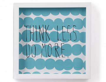 Imagen de Decoración de pared Motto THINK LESS DO MORE