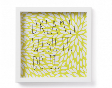 Imagen de Decoración de pared Motto DREAM IT