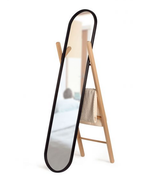 Puntodesign decoraci n del hogar espejo de pie hub - A que altura colgar un espejo de cuerpo entero ...