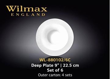 Imagen de Set de 6 platos hondos JULIA de 22,5 cm