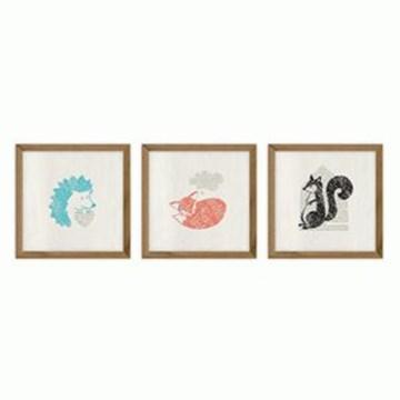 Imagen de Decoración pared surtido animalitos x3 FABLE