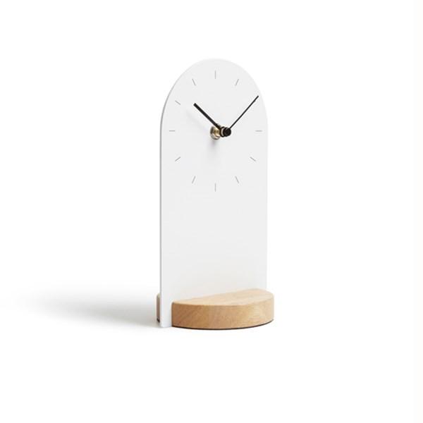 Picture of Reloj escritorio blanco/natural SOMETIME