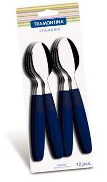Imagen de Blíster de 12 cucharas de mesa IPANEMA color azul