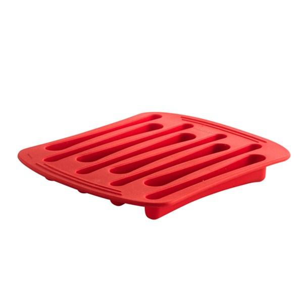 Picture of Molde hielo forma cucharas rojo