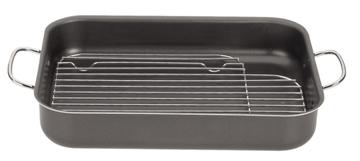 Imagen de Asadera rectangular con grill de 40 cm BRASIL