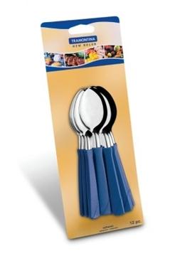 Imagen de Blíster de 12 cucharas de postre azules New Color
