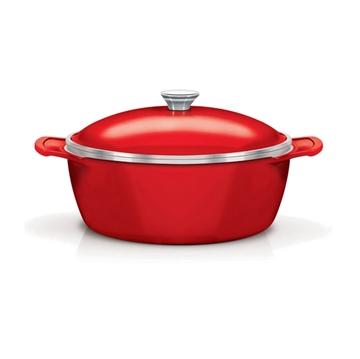 Imagen de Cacerola 22cm LYON siliconado, color rojo