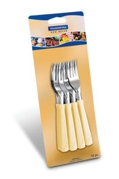 Imagen de Blíster 12 tenedores postre color marfil NEW COLOR