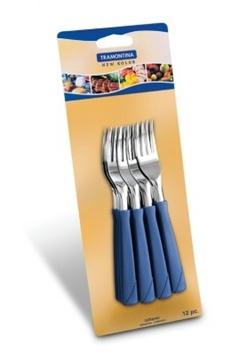 Imagen de Blíster de 12 tenedores postre azules NEW COLOR
