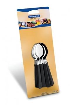 Imagen de Blíster 12 cucharas de té color negro NEW COLOR