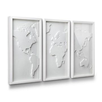 Imagen de Decoración de pared blanco MAPSTER