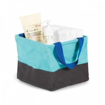 Imagen de Bolsa de tela mini azul surf CRUNCH