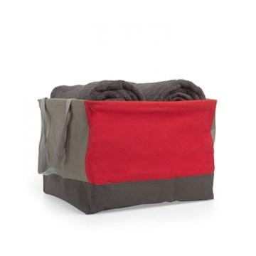Imagen de Bolsa de tela grande rojo/gris CRUNCH