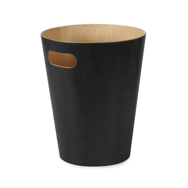 Picture of Papelera negro/natural WOODROW