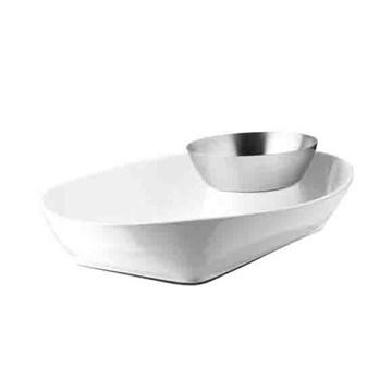 Imagen de Bowl para picada blanco/nickel CHIPSTER