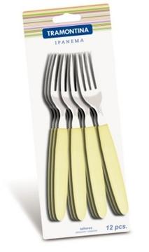 Imagen de  Tenedor de mesa de color marfil en blíster de 12