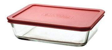 Imagen de Fuente rectangular c/tapa roja 1.4L CRYSTAL