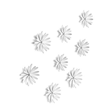 Imagen de Decoración pared DELICA (x8) color blanco
