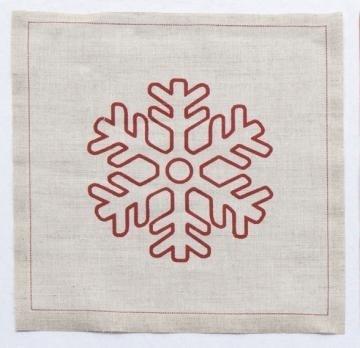 Imagen de Rollo de 20 servilletas 20 x 20 lino Navidad copo