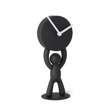 Imagen de Reloj de escritorio negro BUDDY