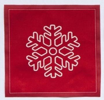 Imagen de Rollo de 20 servilletas 20 x 20 Navidad copo rojo