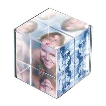 Imagen de Portarretratos cubo transparente ICE