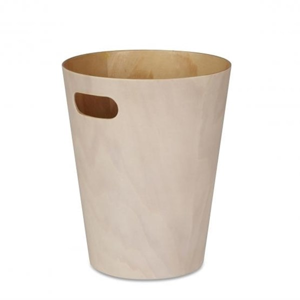 Picture of Papelera blanco/natural 9L WOODROW