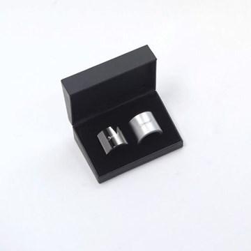 Imagen de Set 2 aros antigoteo negro niquelado / metal